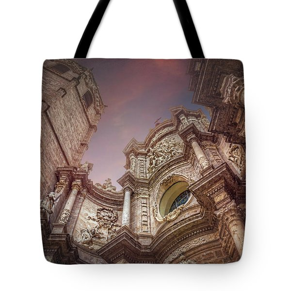 Valencia Cathedral And Miguelete Bell Tower  Tote Bag