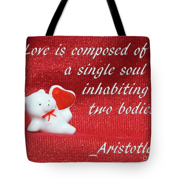 Tote Bag featuring the photograph Valentine By Aristotle by Linda Phelps