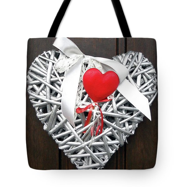 Tote Bag featuring the photograph Valentine Heart by Juergen Weiss