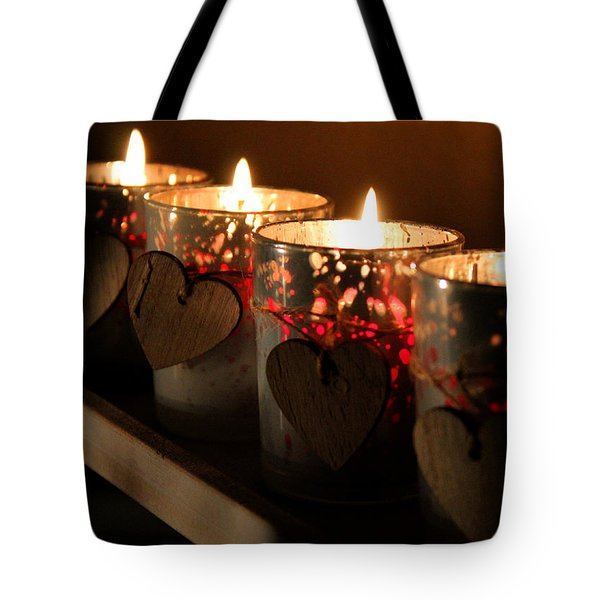 Tote Bag featuring the photograph Heart's Desire by Silke Brubaker