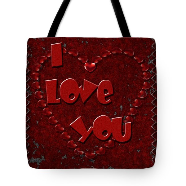 Tote Bag featuring the digital art Valentine Love by Michelle Audas