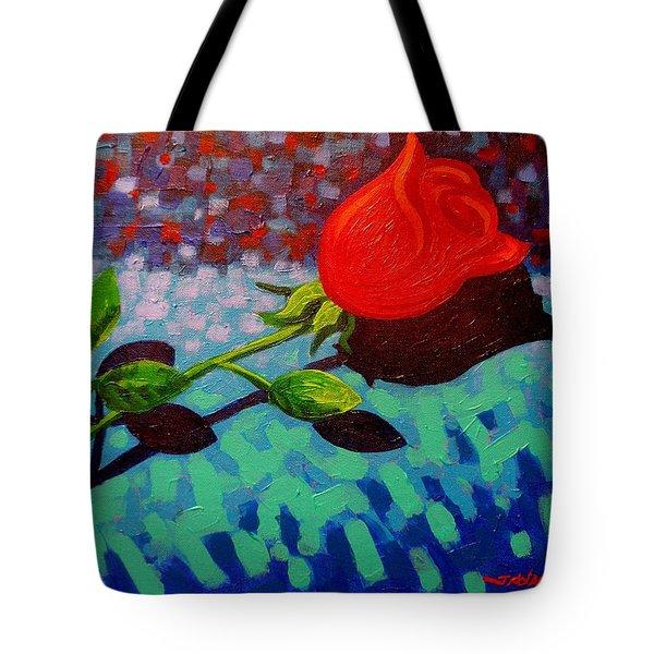 Valentine Rose Tote Bag by John  Nolan