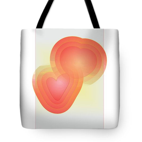 Tote Bag featuring the digital art Valentine by Sherril Porter