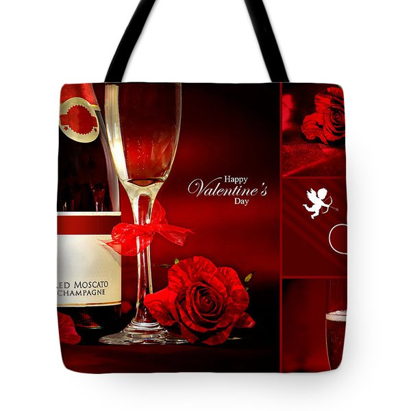 Valentine's Collage Photo Tote Bag by Serena King