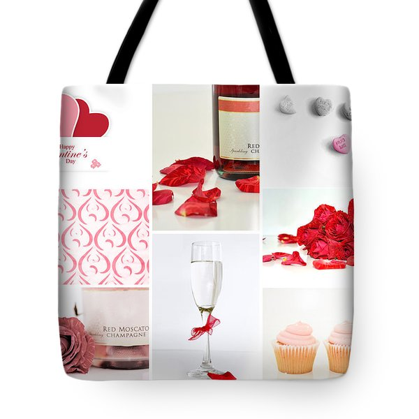 Valentine's Collage Tote Bag by Serena King