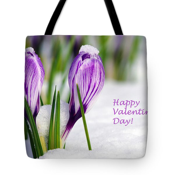 Valentines Day Crocuses Tote Bag by Sharon Talson