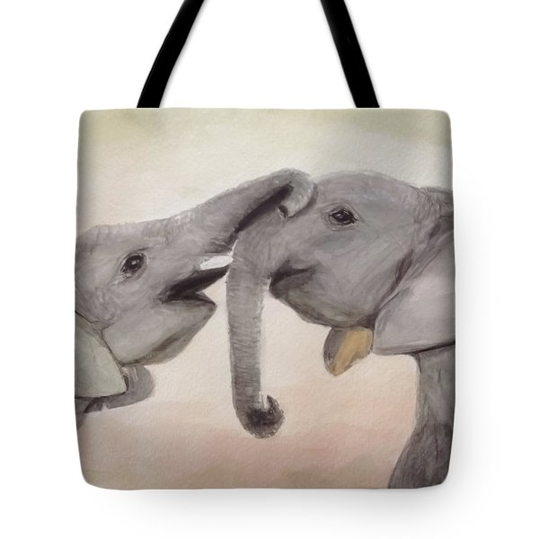 Valentine's Day Elephant Tote Bag