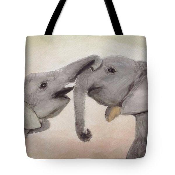 Valentine's Day Elephant Tote Bag