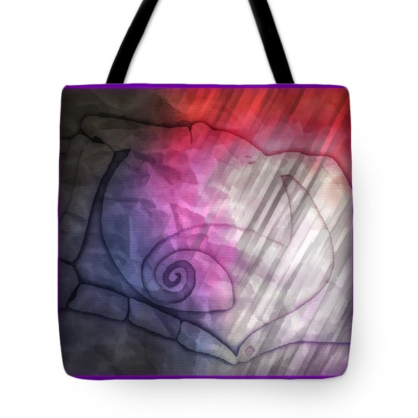 Tote Bag featuring the digital art Valentines Jack And Sally by Amanda Eberly-Kudamik