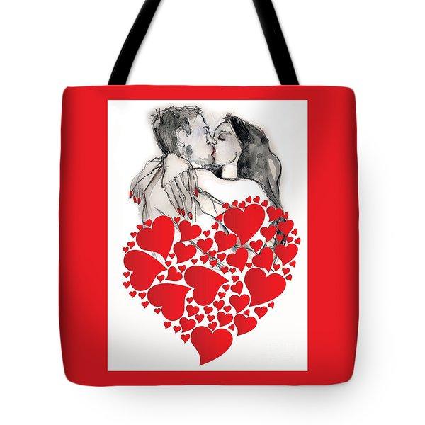 Valentine's Kiss - Valentine's Day Tote Bag