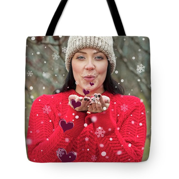 Tote Bag featuring the photograph Valentines Kisses... by Nina Stavlund