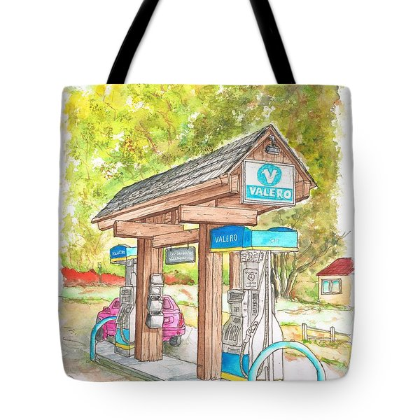 Valero Gas Station In Big Sur, California Tote Bag