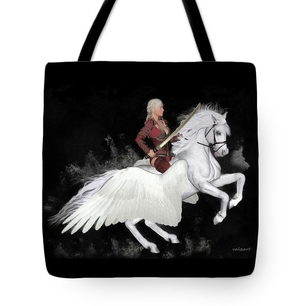 Tote Bag featuring the painting Valkyrie by Valerie Anne Kelly