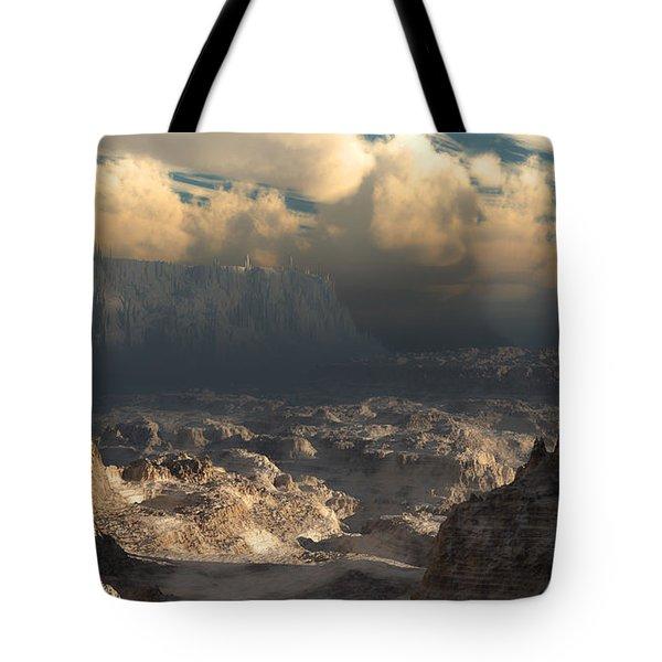 Valley At Dusk Tote Bag