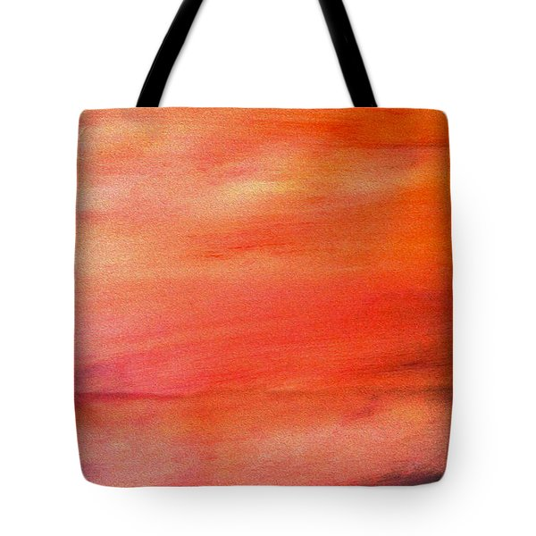 Valley At Sunset Tote Bag