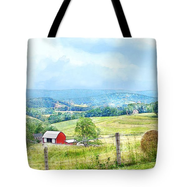 Valley Farm Tote Bag by Francesa Miller
