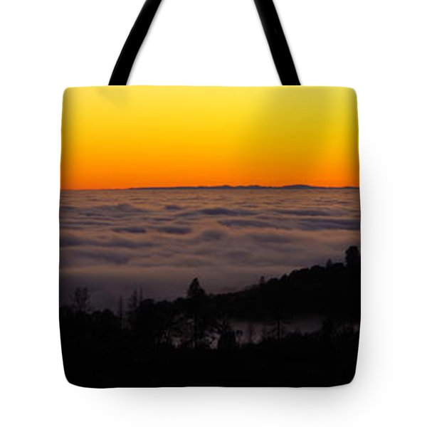 Valley Fog Twilight Tote Bag