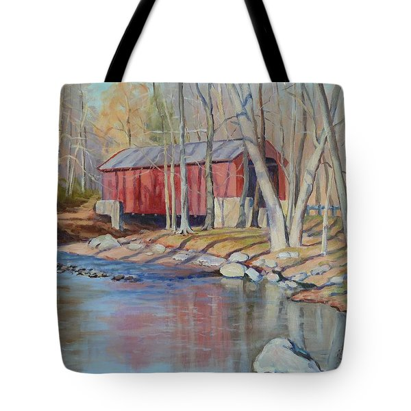 Valley Forge Covered Bridge Tote Bag