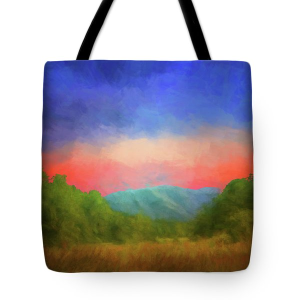 Valley In The Cove Tote Bag by Geraldine DeBoer