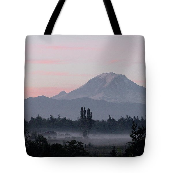 Valley Mists Tote Bag by Shirley Heyn