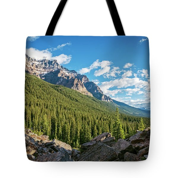 Valley Near Moraine Lake Banff Tote Bag