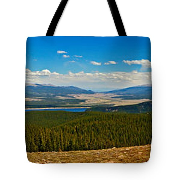 Valley Of 14ers Panorama Tote Bag by Jeremy Rhoades