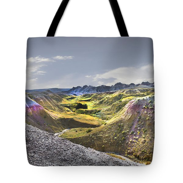 Tote Bag featuring the photograph Valley Of Beauty,badlands South Dakota by John Hix