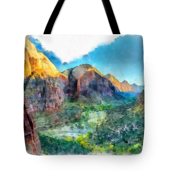 Valley Of Colours. Tote Bag