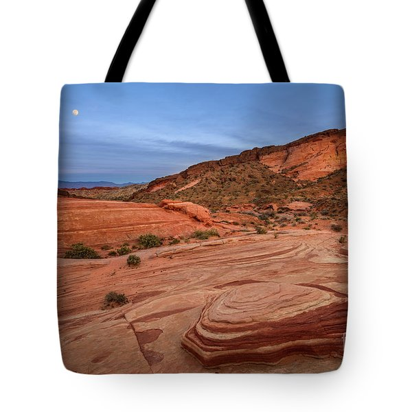 Valley Of Fire Blue Hour Tote Bag