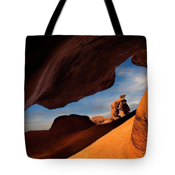 Valley Of Fire Look Through Tote Bag by Gary Warnimont