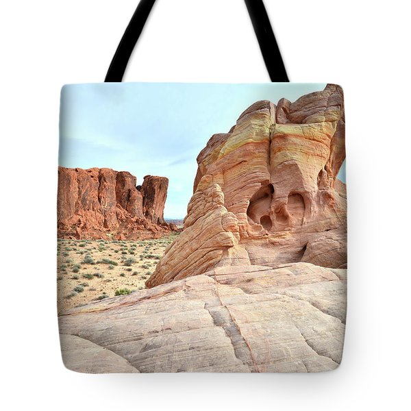 Tote Bag featuring the photograph Valley Of Fire North by Ray Mathis