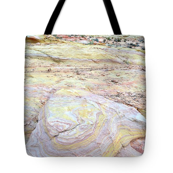 Tote Bag featuring the photograph Valley Of Fire Pastels by Ray Mathis