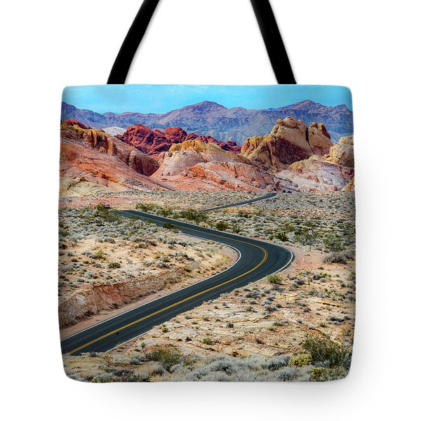 Road Through The Valley Of Fire Tote Bag