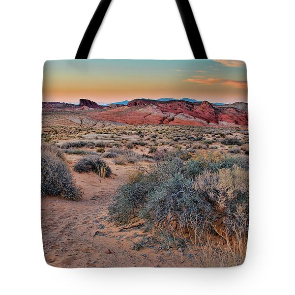 Valley Of Fire Sunset Tote Bag