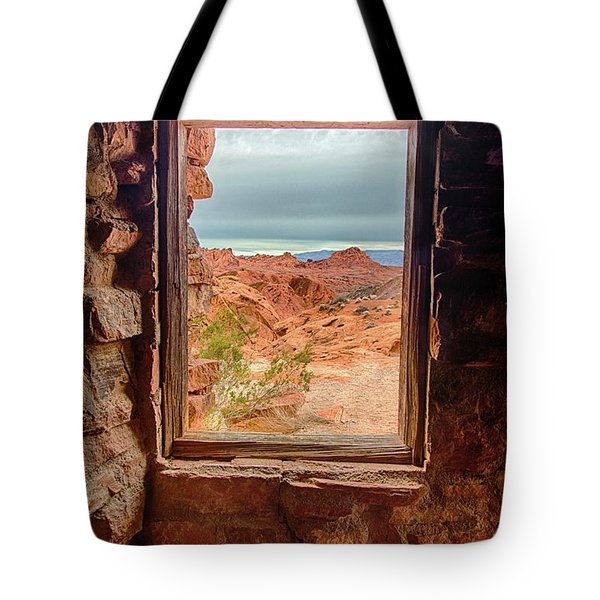 Valley Of Fire Window View Tote Bag