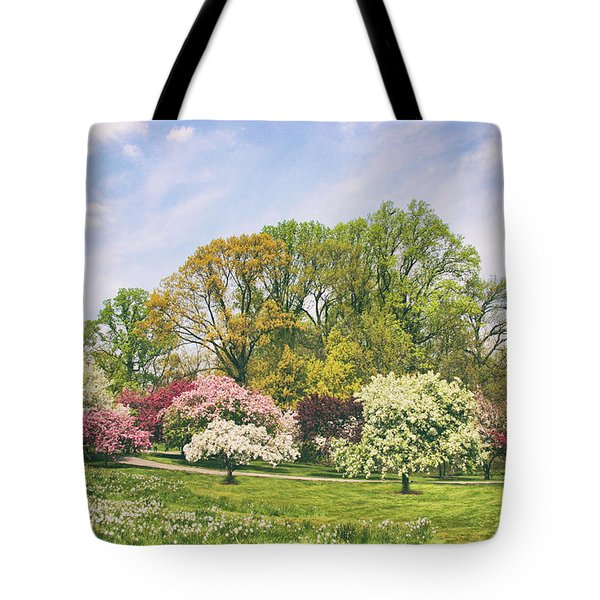 Tote Bag featuring the photograph Valley Of The Daffodils by Jessica Jenney