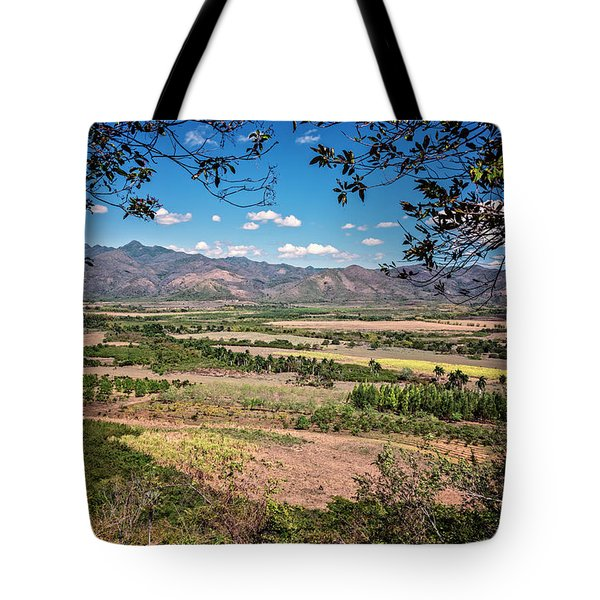 Tote Bag featuring the photograph Valley Of The Sugar Mills Trinidad Cuba by Joan Carroll