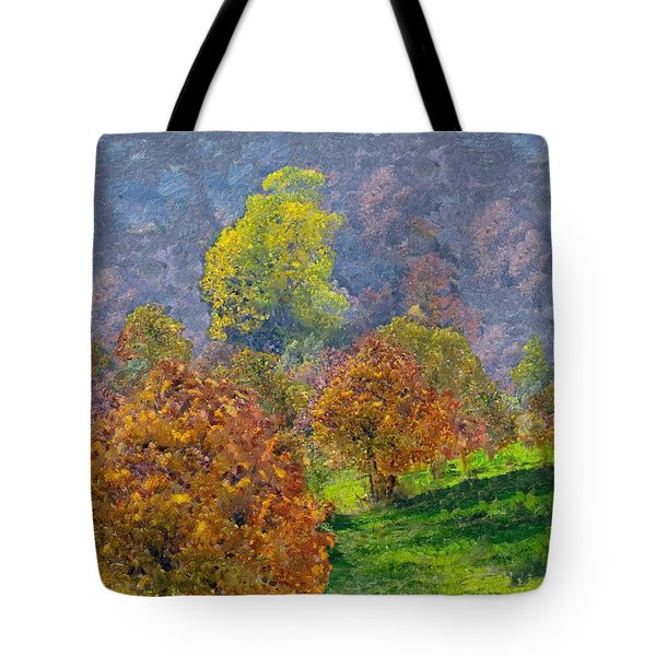 Valley Of The Trees Tote Bag by Enzie Shahmiri