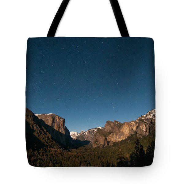 Valley View By Moon Light Tote Bag