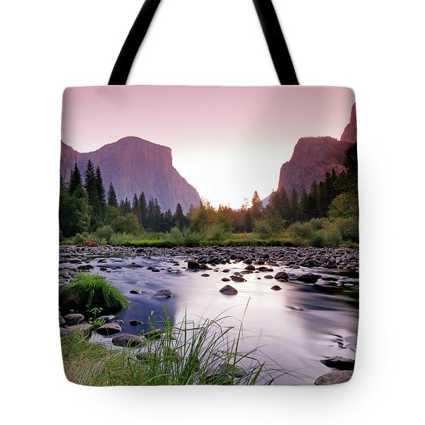 Valley View Sunrise Tote Bag