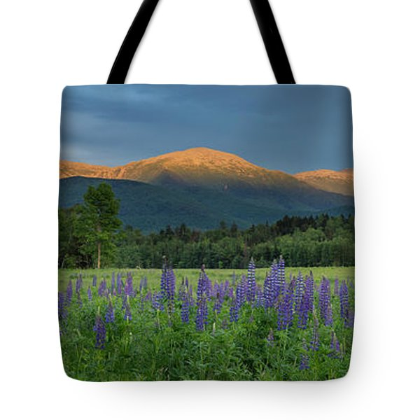 Valley Way Lupine Sunset Tote Bag