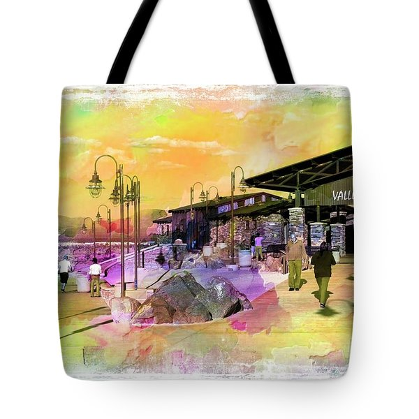 Valley Wells California Tote Bag
