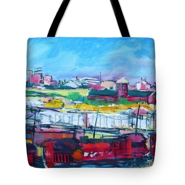 Tote Bag featuring the painting Valley Yard by Les Leffingwell