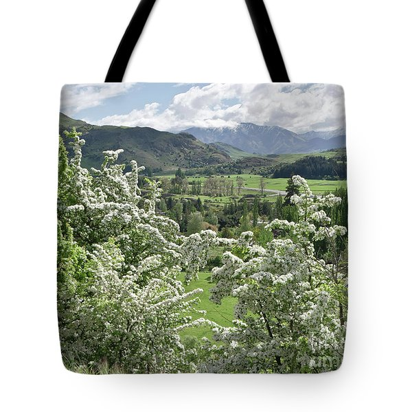 Valleys And Meadows Of New Zealand. Springtime. Queenstown Area. Tote Bag