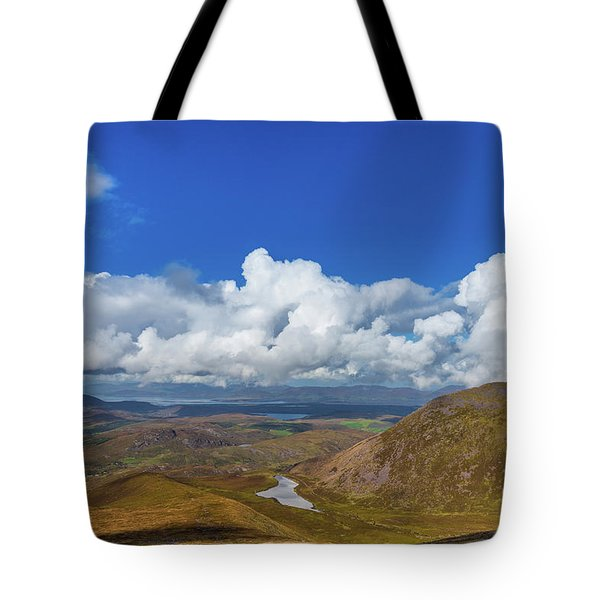 Tote Bag featuring the photograph Valleys And Mountains In County Kerry On A Summer Day by Semmick Photo
