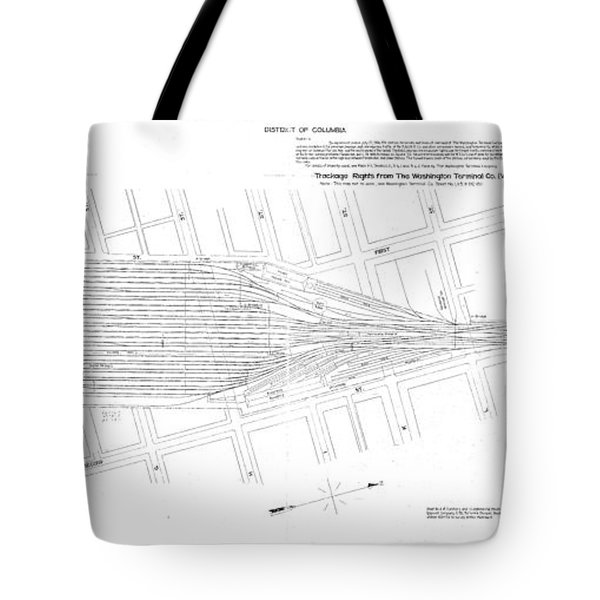 Valuation Map Washington Union Station Tote Bag