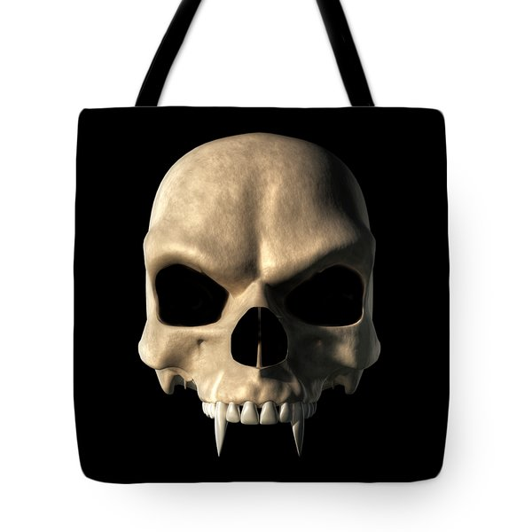 Vampire Skull Tote Bag by Daniel Eskridge