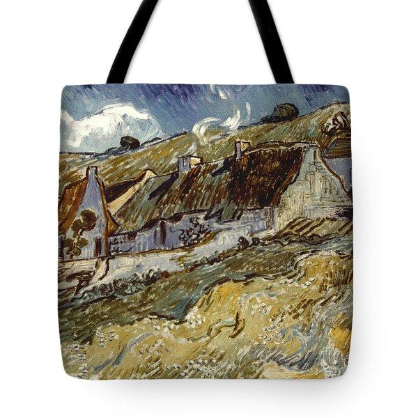 Van Gogh: Cottages, 1890 Tote Bag by Granger