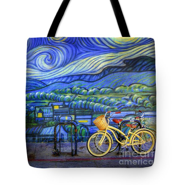 Van Gogh's Yellow And Green Bicycles Tote Bag by Craig J Satterlee