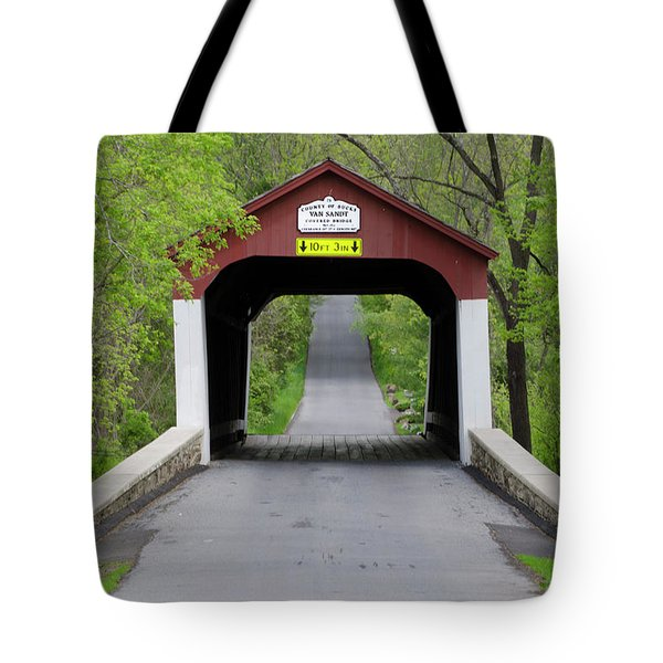 Van Sandt Covered Bridge - Bucks County Pa Tote Bag